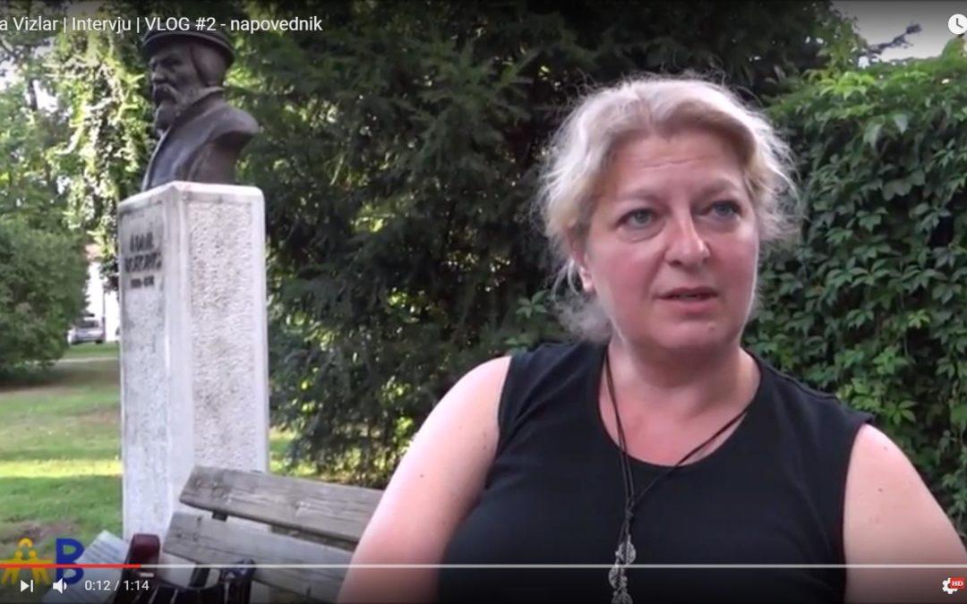 Napovednik intervjuja s predsednico podružnice Dolenjska, gospo Vesno Vizlar