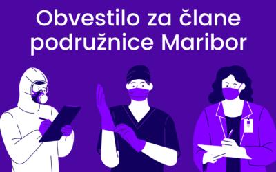 Obvestilo za podružnico Maribor