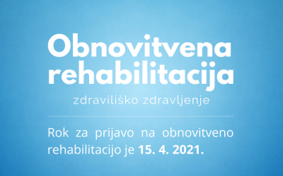 Razpis za obnovitveno rehabilitacijo